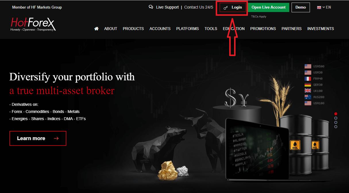 How to Login to HotForex