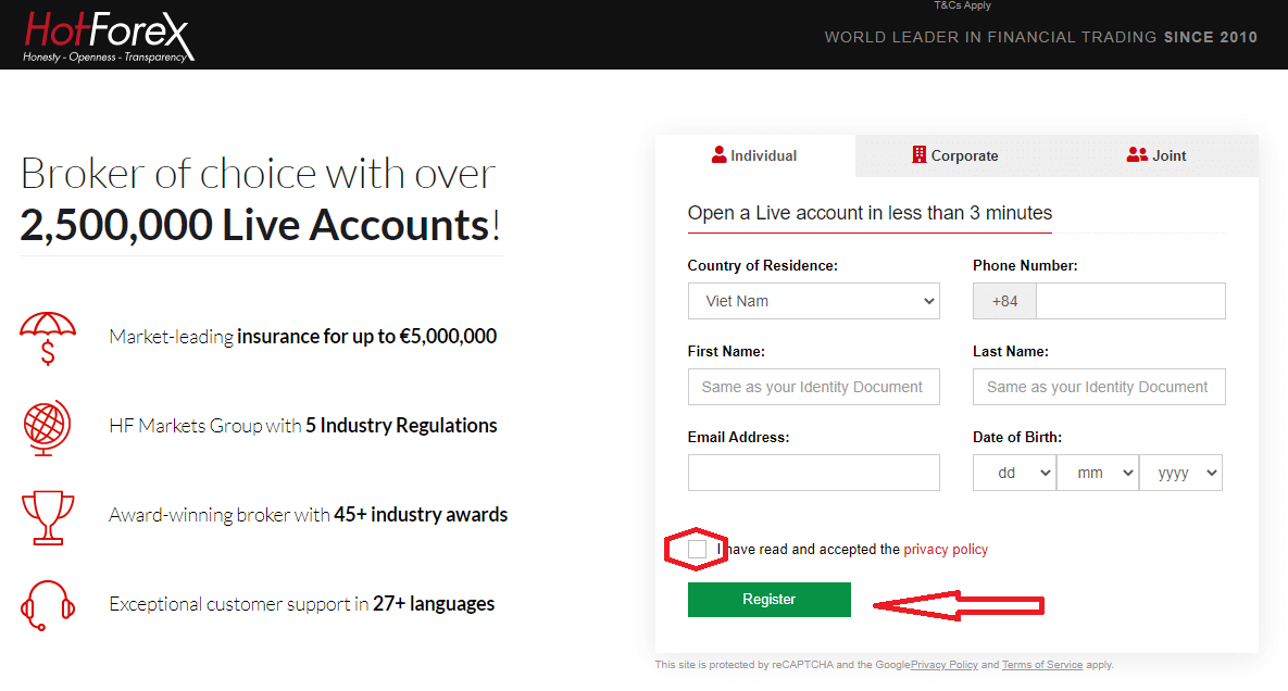 How to Sign Up and Login Account in HotForex