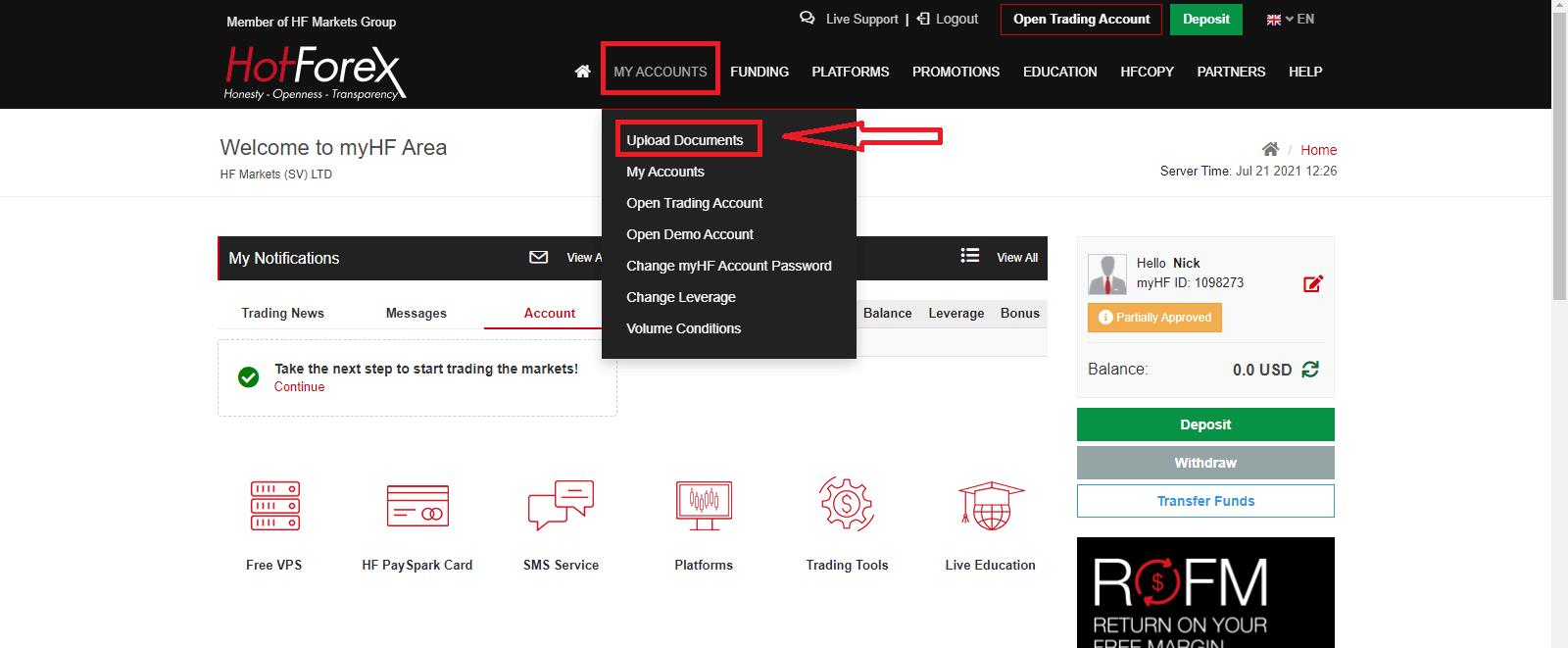 How to Verify HotForex Account